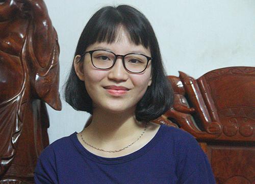Nữ sinh Trần Thị Quỳnh Anh. Ảnh: Đức Hùng