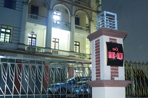Văn phòng Sở Giáo dục và Đào tạo tỉnh Hà Giang tối 16/7. Ảnh: Quỳnh Trang.