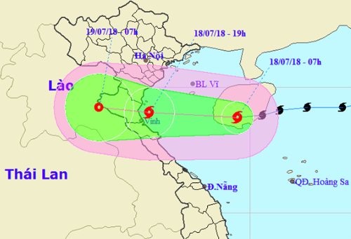 Chiều tối nay bão cấp 8 đổ bộ Nghệ An, Hà Tĩnh