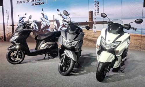 Xe ga Suzuki Burgman Street 125 ra mắt tại Ấn Độ.