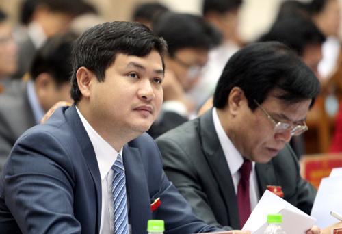 Ông Lê Phước Hoài Bảo trong một cuộc họpHĐND tỉnh Quảng Nam. Ảnh:Đắc Thành.