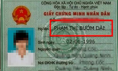 Những tên khai sinh ''độc lạ'' nhất Việt Nam -