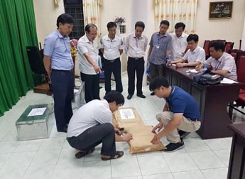 Tổ công tác kiểm tra tại Hà Giang.Ảnh: Cổng thông tin điện tử Bộ Công an
