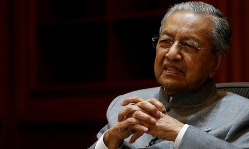 Thủ tướng MalaysiaMahathir Mohamad, một trong những người bị dọa ám sát.Ảnh: Reuters.