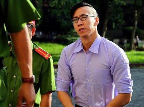 Nguyen Wiliam Anh tại tòa hôm nay. Ảnh: Pháp luật TP HCM.