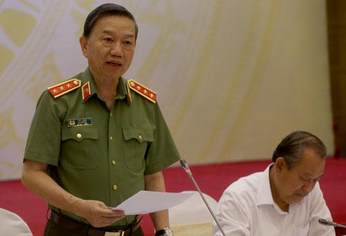 Thượng tướng Tô Lâm, Bộ trượng Bộ Công an.Ảnh: Bá Đô