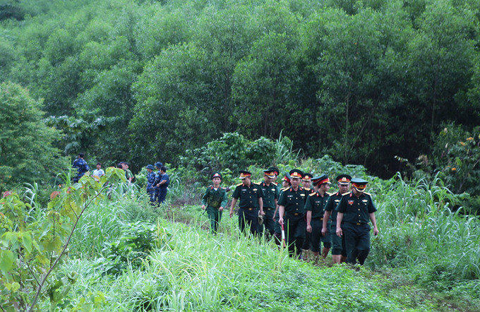 Hiện trường chiến đấu cơ Su-22 rơi ở Nghệ An
