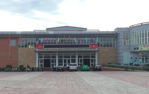 Trung tâm Văn hóa thị xã Hồng Lĩnh, nơi ông Châu và nữ nhân viên đang làm việc. Ảnh: Đức Hùng