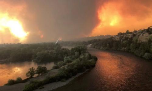 Cháy rừng ở California vào ngày 26/7, dự kiến còn kéo dài. Ảnh: Reuters.