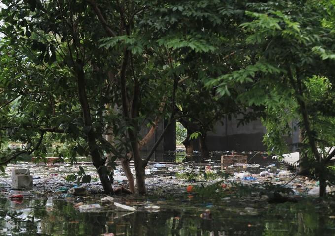 Biển rác bủa vây người dân vùng lũ Hà Nội