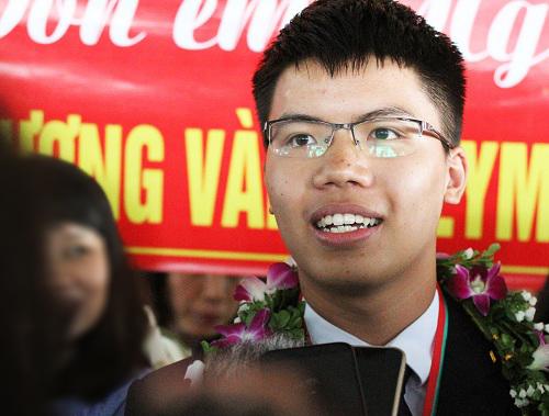 Nguyễn Ngọc Long, chủ nhân huy chương vàng Olympic Vật lý quốc tế 2018. Ảnh: Thùy Linh