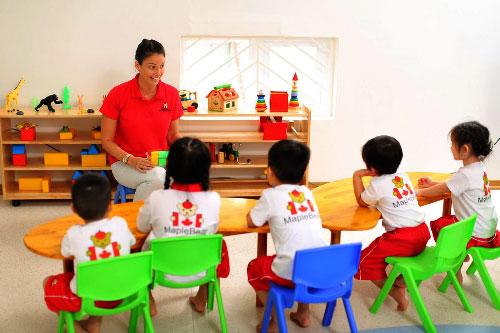 Từ 1/8 các trường mầm non có vốn đầu tư nước ngoài sẽ được nhận trẻ dưới 5 tuổi. Ảnh: Thế Đan