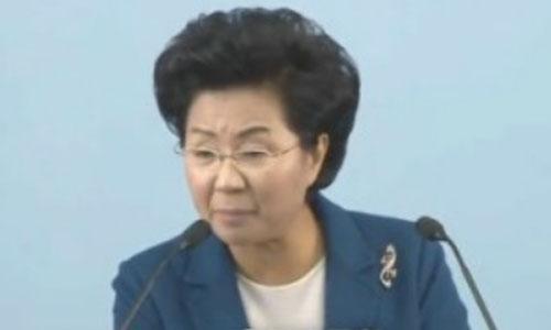 Mục sư Shin Ok-ju của nhà thờ Grace Road. Ảnh: Youtube.