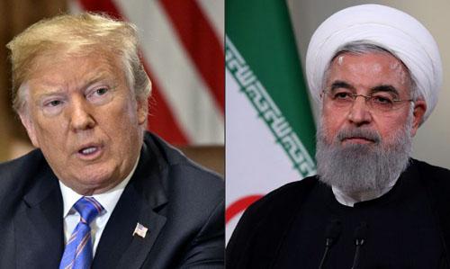 Tổng thống Mỹ Donald Trump (trái) và Tổng thống Iran Hassan Rouhani. Ảnh: AFP.