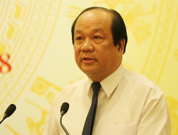 Bộ trưởng, Chủ nhiệm Văn phòng Chính phủ Mai Tiến Dũng. Ảnh: Võ Hải