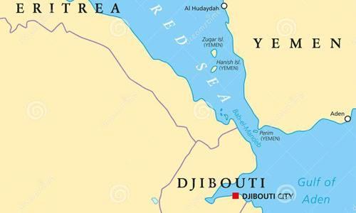 Eo biển Bab al-Mandeb nối liền Biển Đỏ với Vịnh Aden. Đồ họa: Vector.