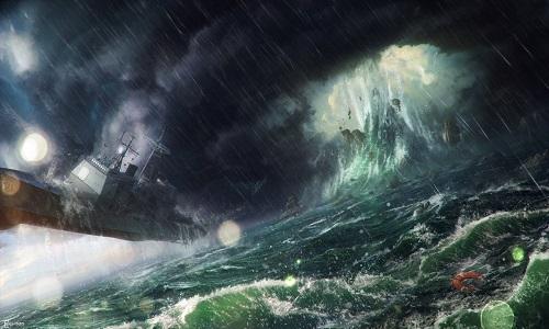 Các nhà khoa học tính toán sóng độc ở tam giác Bermuda có thể cao tới hơn 30 mét. Ảnh: Fox.