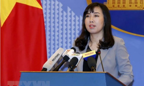 Người phát ngôn Bộ Ngoại giao Việt Nam Lê Thị Thu Hằng. Ảnh: TTXVN.