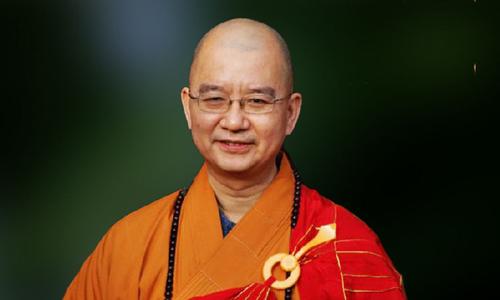 Hòa thượng Thích Học Thành - Hội trưởng Hội Phật giáo Trung Quốc. Ảnh: Mạng Phật giáo Ninh Đức.