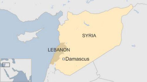 Vị trí thủ đô Damascus của Syria. Đồ họa: BBC.