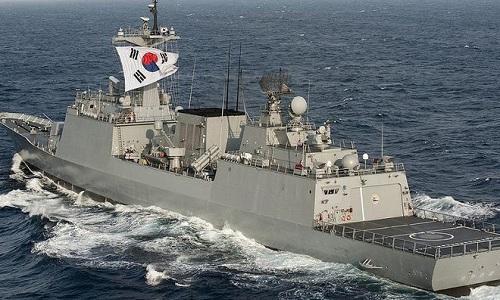 Tàu chiến Munmu the Great của Hàn Quốc. Ảnh: US Navy.