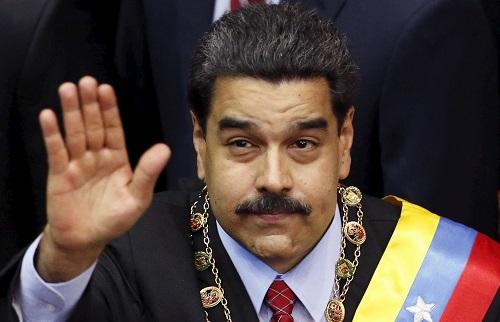 Tổng thống Venezuela Nicolas Maduro trước khi bị ám sát sáng hôm qua. Ảnh: Reuters.