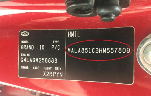 Số VIN - giấy khai sinh của ôtô - 1