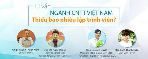 FUNiX hỗ trợ tư vấn trực tuyến về ngành công nghệ thông tin Việt Nam