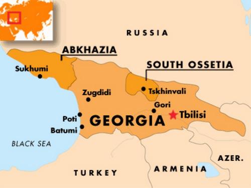 Vùng lãnh thổ Abkhazia và Nam Ossetia. Đồ họa: Al Jazeera