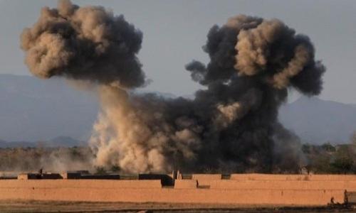 Một cuộc không kích của Mỹ tại tỉnh Helmand, Afghanistan hồi tháng 7/2017. Ảnh:Nation.