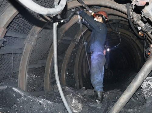 Bên trong hầm lò Công ty cổ phần than Mông Dương. Ảnh: Phạm Tăng