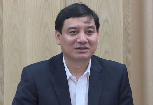 Bí thư Tỉnh uỷ Nghệ An Nguyễn Đắc Vinh. Ảnh: NTV
