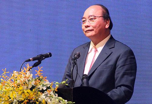 Thủ tướng Nguyễn Xuân Phúc phát biểu chỉ đạo ở hội nghị. Ảnh: Cửu Long