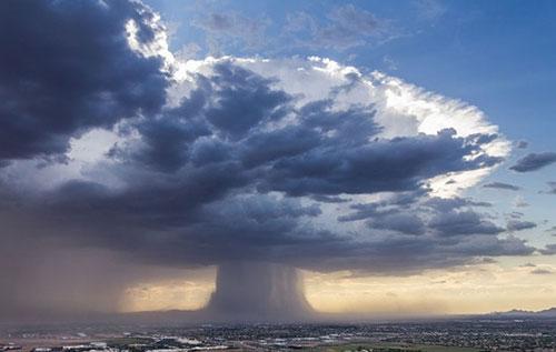 Hình ảnh đám mây nguyên tử đượcchụp bởi Bruce Haffner.