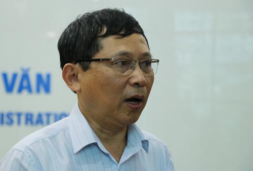 Tổng cục phó Khí tượng thuỷ văn Quốc gia Lê Thanh Hải. Ảnh: Võ Hải.