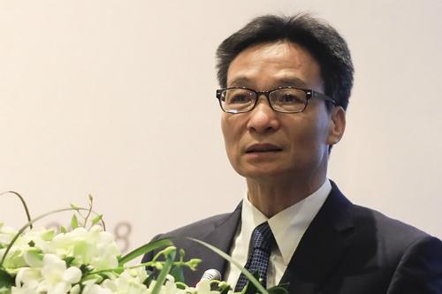 Phó thủ tướng Vũ Đức Đam phát biểu tại hội thảo. Ảnh: Dương Tâm