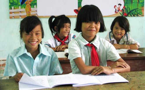 Học sinh tại một trường vùng cao của Quảng Ninh. Ảnh: Minh Cương.