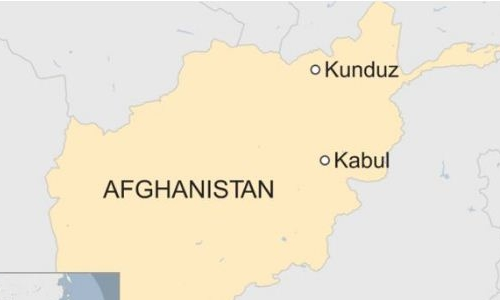 Vị trí tỉnh Kunduz. Đồ họa: BBC.