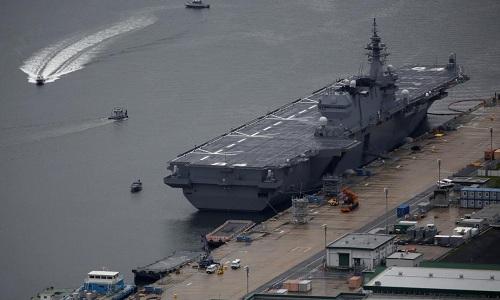 Tàu sân bay trực thăng JDS Kaga của Nhật. Ảnh: Reuters.