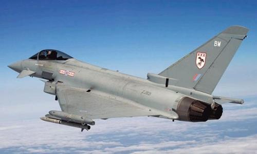 Chiến đấu cơ Typhoon của Không quân Hoàng gia Anh. Ảnh:RAF.