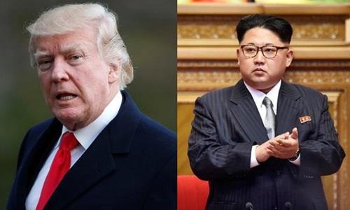 Tổng thống Mỹ Donald Trump (trái) và lãnh đạo Triều Tiên Kim Jong-un. Ảnh: Reuters.