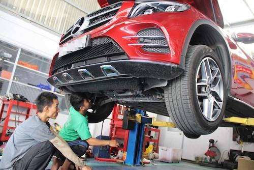 Mercedes khuyến cáo người dùng GLC nên kiểm tra dầu cầu trước tại các đại lý uỷ quyền.