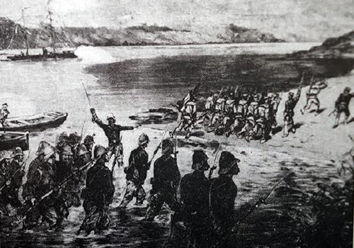 Liên quân Pháp - Tây Ban Nha xâm lược Đà Nẵng ngày 1/9/1858. Ảnh: Tư liệu.