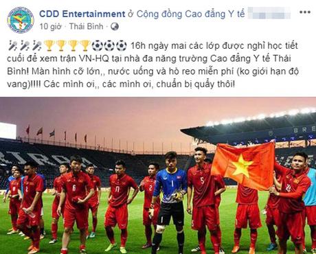 Công ty cho nghỉ làm, trường thông báo nghỉ học cổ vũ Olympic Việt Nam - 5