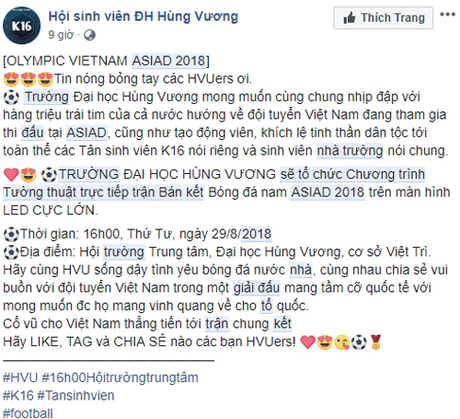 Công ty cho nghỉ làm, trường thông báo nghỉ học cổ vũ Olympic Việt Nam - 4
