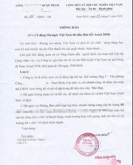 Công ty cho nghỉ làm, trường thông báo nghỉ học cổ vũ Olympic Việt Nam - 1