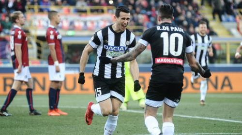 Áo đấu của Udinese mùa 2018-2019 trong trận gặp CLB Parma. Ảnh: Eurosport.