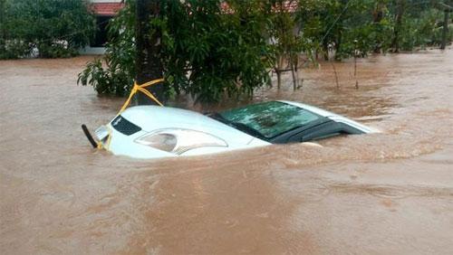 Ngoài ra là vô số xe của người dân bị nhấn chìm, cuốn trôi trong mưa lũ kỷ lục.
