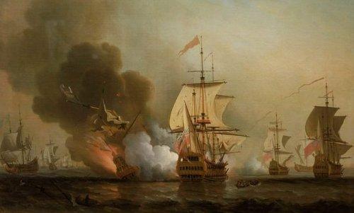 Trận đánh khiến tàu San José bị chìm ngày 28/5/1708. Ảnh: War History.
