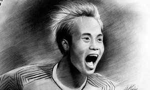 Chân dung cầu thủ Việt Nam qua nét vẽ của nam sinh Sài Gòn